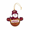 Item # 420957 - Washington Redskins Snowman With Sign Christmas Ornament