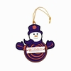 Item # 420959 - Clemson University Tigers Snowman With Sign Christmas Ornament