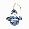 Item # 420965 - University of North Carolina Tar Heels Snowman With Sign Christmas Ornament