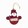Item # 420968 - Virginia Tech Hokies Snowman With Sign Christmas Ornament