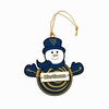 Item # 420969 - West Virginia University Mountaineers Snowman With Sign Christmas Ornament