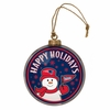 Item # 420990 - New England Patriots Team Snowman Disc Christmas Ornament
