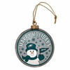 Item # 420995 - Philadelphia Eagles Team Snowman Disc Christmas Ornament