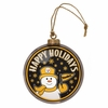 Item # 420996 - Pittsburgh Steelers Team Snowman Disc Christmas Ornament