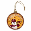 Item # 420998 - Washington Redskins Team Snowman Disc Christmas Ornament