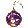Item # 421001 - Clemson University Tigers Team Snowman Disc Ornament