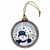 Item # 421007 - Penn State University Nittany Lions Team Snowman Disc Christmas Ornament