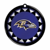Item # 421016 - Blown Glass Baltimore Ravens Logo Disc Christmas Ornament