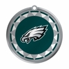 Item # 421026 - Blown Glass Philadelphia Eagles Logo Disc Christmas Ornament
