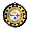 Item # 421027 - Blown Glass Pittsburgh Steelers Logo Disc Christmas Ornament