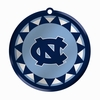 Item # 421033 - Blown Glass University of North Carolina Tar Heels Logo Disc Christmas Ornament