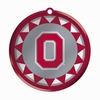 Item # 421034 - Blown Glass Ohio State University Buckeyes Logo Disc Christmas Ornament