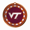 Item # 421036 - Blown Glass Virginia Tech Hokies Logo Disc Christmas Ornament