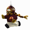 "Item # 421059 - 6"" Blown Glass Washington Redskins Snowman Player Ornament"