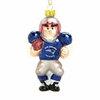Item # 421082 - Blown Glass New England Patriots Player Christmas Ornament