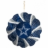 "Item # 421090 - 4.5"" Dallas Cowboys Geo Spinner Christmas Ornament"