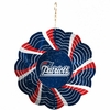 "Item # 421093 - 4.5"" New England Patriots Geo Spinner Christmas Ornament"