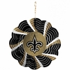 "Item # 421094 - 4.5"" New Orleans Saints Geo Spinner Christmas Ornament"
