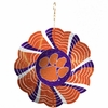 "Item # 421102 - 4.5"" Clemson University Tigers Geo Spinner Christmas Ornament"