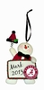 Item # 421120 - University of Alabama Crimson Tide Personalizable Snowman Christmas Ornament