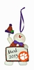 Item # 421121 - Clemson University Tigers Personalizable Snowman Christmas Ornament