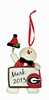 Item # 421123 - University of Georgia Bulldogs Personalizable Snowman Christmas Ornament
