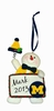 Item # 421124 - University of Michigan Wolverines Personalizable Snowman Christmas Ornament