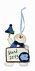 Item # 421125 - University of North Carolina Tar Heels Personalizable Snowman Christmas Ornament