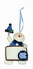 Item # 421125 - University of North Carolina Tar Heels Personalizable Snowman Ornament