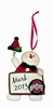 Item # 421126 - Ohio State University Buckeyes Personalizable Snowman Christmas Ornament