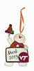 Item # 421128 - Virginia Tech Hokies Personalizable Snowman Christmas Ornament