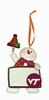 Item # 421128 - Virginia Tech Hokies Personalizable Snowman Ornament