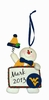 Item # 421129 - West Virginia University Mountaineers Personalizable Snowman Christmas Ornament