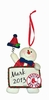 Item # 421130 - Boston Red Sox Personalizable Snowman Christmas Ornament