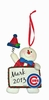 Item # 421131 - Chicago Cubs Personalizable Snowman Christmas Ornament