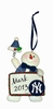 Item # 421132 - New York Yankees Personalizable Snowman Christmas Ornament