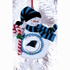 Item # 421148 - Claydough Carolina Panthers Snowman Christmas Ornament