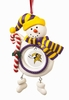 Item # 421150 - Claydough Minnesota Vikings Snowman Christmas Ornament