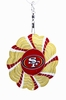 "Item # 421176 - 4.5"" San Francisco 49ers Geo Spinner Christmas Ornament"