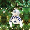 Item # 421188 - Dallas Cowboys Snowman Christmas Ornament
