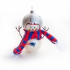 Item # 421190 - New England Patriots Snowman Christmas Ornament