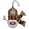 Item # 421195 - San Francisco 49ers Snowman Christmas Ornament