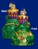 Item # 425008 - Blown Glass Frog King Ornament
