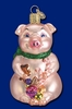 Item # 425009 - Blown Glass Lester The Pig Christmas Ornament