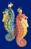 Item # 425018 - Blown Glass Seahorse Christmas Ornament