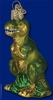 Item # 425023 - Blown Glass T-Rex Christmas Ornament
