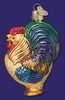 Item # 425032 - Blown Glass Rooster Christmas Ornament