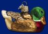 Item # 425034 - Blown Glass Mallard Christmas Ornament