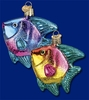 Item # 425058 - Blown Glass Tropical Angelfish Christmas Ornament