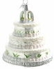 Item # 425064 - Blown Glass Wedding Cake Christmas Ornament